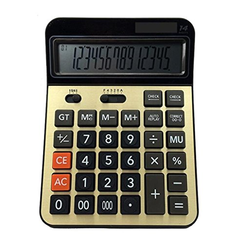Professioneller elektronischer Taschenrechner, 14 Stellen Tischrechner, Office Financial Computing Supplies