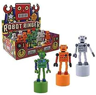 Robot Finger Push Puppets Classic Wooden Toy - Colors May Vary