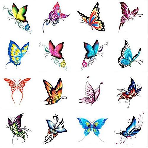 Hot Men vendez et femmes tatouages temporaires papillon Waterproof Autocollants