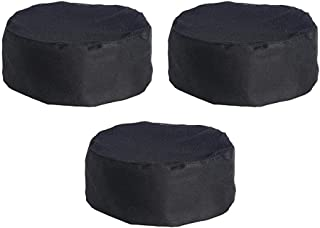 Golden Apple 3PCS Breathable Mesh Catering Chefs Hat With Adjustable Strap Black