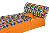 Montse Interiors, S.L. - Saco Nrdico Estampado Piezas de Puzzle de Colores, Modelo Puzzle, para Cama de 90x190/200