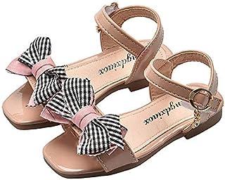 キッズサンダル ガールズサンダル 子供靴 かわいい淑女風蝶結び 女の子 お嬢様 ジュニア 歩きやすい ビーチサンダル 柔らかい 夏 靴 小さいサイズ 大きいサイズ