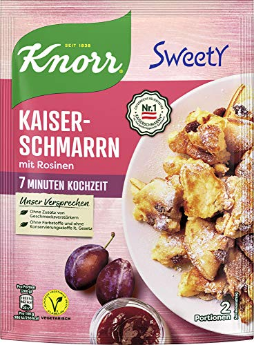Knorr Sweety Kaiserschmarrn, 2 Portionen, 7er Pack (7 x 205 g)