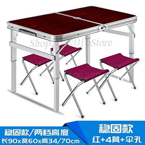 LJQLXJ Tables pliantes Placer des tables pliantes, des tables pliantes à pousser, des tables d'exposition, des tables de pique-nique, des tables et des chaises pliantes d'extérieur, comme sur l'image9