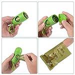 Dog Poop Bags Biodegradable 26 Rolls (390 Counts) Dispenser, Scented Leak-Proof Dog Waste Bags 10