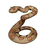 ガラガラヘビ彫刻、ヘビ動物モデル庭動物像ヘビ女神冷血動物装飾的なホラー彫刻