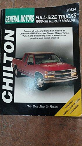 Haynes-28624 Chevrolet Pick-Ups, 1988-98 Technical Repair Manual