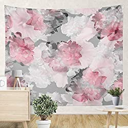 pink and grey tapestry