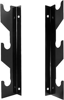 FUXIN Vertical Steel BarbellsHolder, Olympic Wall Mounted Weight Bar Storage Racks, 1 Pair (3 Bars)