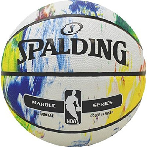 Spalding NBA Marble Mc Outdoor Ball Basketball, Mehrfarbig, 7