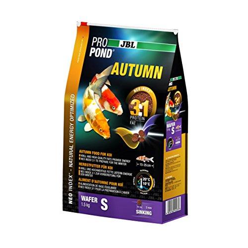 JBL Nourriture Automne pour Koïs, Pastilles Alimentaires Submersibles, Nourriture de saison, ProPond Autumn, Taille: S, 1,5 kg
