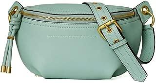 Portable Black/Green/Pink Pockets Handbags Fashion Chest Bag Female Shoulder Diagonal Package 24 * 8 * 15 (cm) (Color : Green)