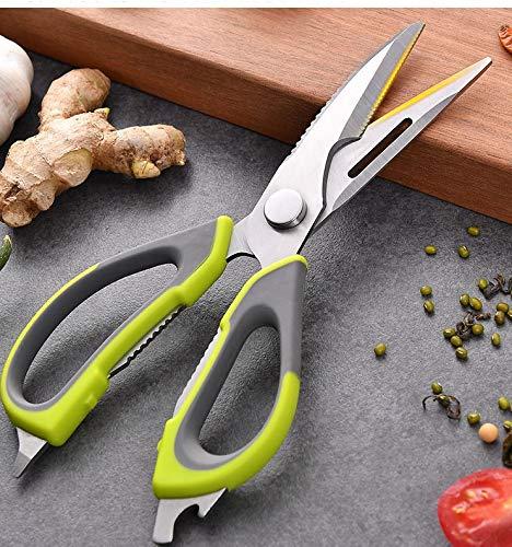 U. Uberlux Multifunktionsschere, Küchenschere, rostfrei, Geflügelschere, 7 in 1 Schere