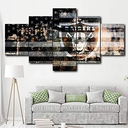 GIRDSS Kunstdrucke Hd Druck Leinwand Malerei Hause Dekorative 5 stücke American Football Sport Modulare Wandkunst Drucke Stücke Poster Raum150x100cm
