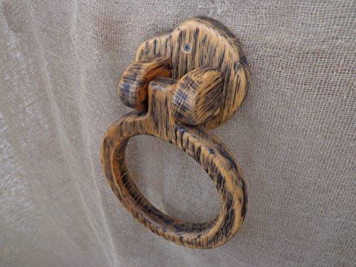 Towel Ring Holder. Wooden Towel Holder, Rustic Bathroom Hand Towel Holder, Kitchen Towel Holder, Wooden Hanger, Towel Hanger