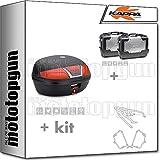 kappa maleta k46n + maletas laterales kgr33pack2 + portaequipaje monolock + portamaletas lateral monokey compatible con triumph bonneville t100 2020 20