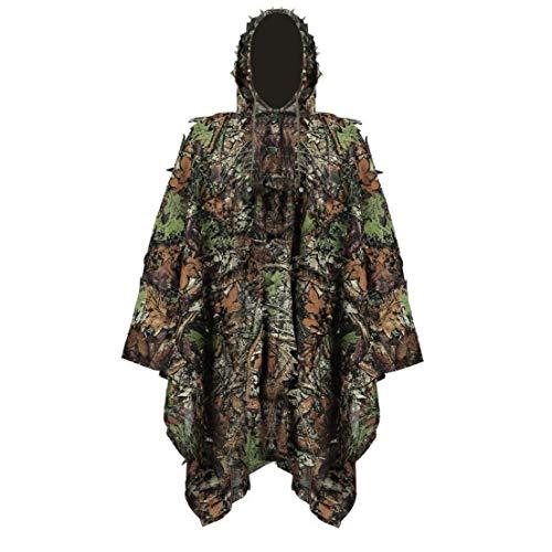 Ghillie Anzug, Stealth Sniper Set, 3D-Camouflage Cape Umhang Jungle für Outdoor Weihnachtsdekoration Geburtstag