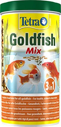 Tetra Pond Goldfish Mix Premium Hauptfutter (Futtermix aus besten Flocken), 1 Liter Dose - 2