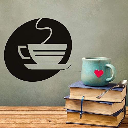 62Cm X 58Cm Küche Wandaufkleber Büro Dekoration Hohle Dampfende Teetasse Wandaufkleber Kleber Hauptdekoration Tafel
