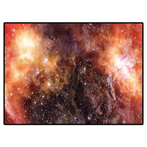 Carpets Nebula Gas Cloud in Deep Outer Space Chair Sofa Cover Plain Area Rugs 2 X 4 Ft