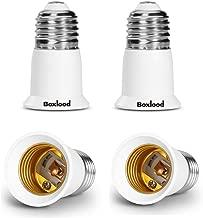 Boxlood E26 to E26 Socket Extender, Lamp Holder Adapter, Lamp Bulb Socket Extension 4 Pack
