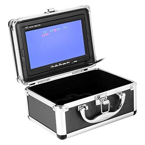 Bewinner LCD Monitor Fischfinder, 17,8 cm (7 Zoll) IP68 wasserdichte Unterwasser-Angelkamera CCD 1000TVL 960 x 480 92° Angeln DVR Kamera Unterwasserkamera für EIS-, See- und Bootsangeln