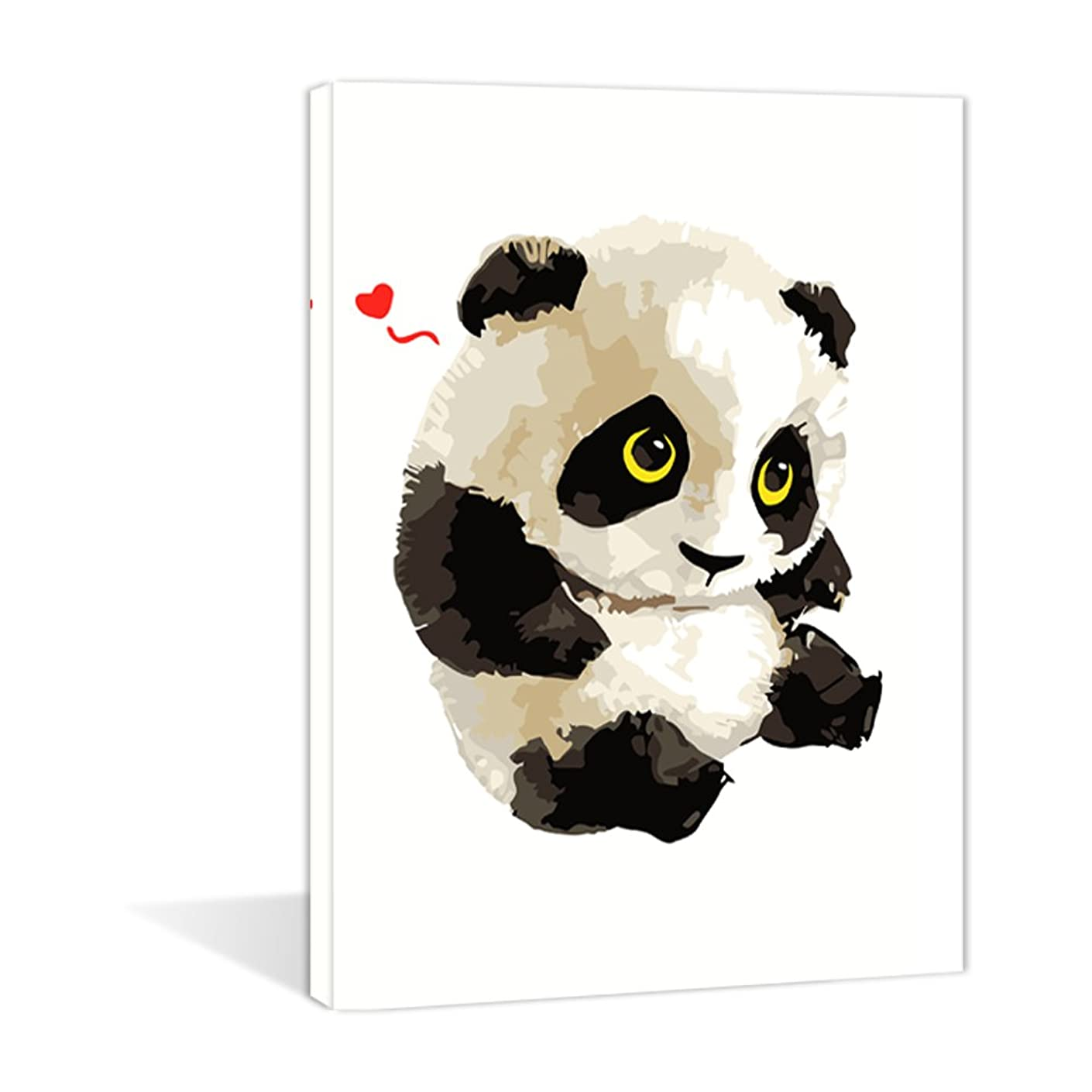 Paint by Numbers 16 x 20 inch Canvas Art Kits DIY Oil Painting for Kids/Students/Adults Beginner Wall Decorative Painting for Children's Day, Cute Panda