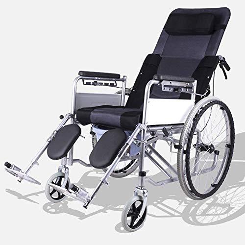 Rollstuhl-Gehhilfsmittel Medizinischer Reha-Stuhl, Rollstuhl, Leichter Klappverstellbarer Rollstuhlfahrer Medizinisch, Rollstuhl Kleine Toilette Älterer behinderter Laufwagen Krankenpflege