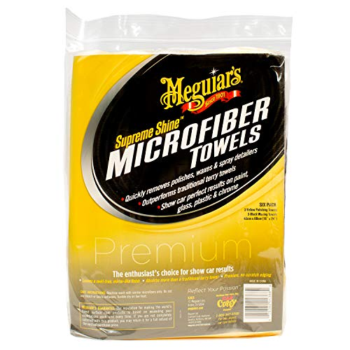 Meguiar's Supreme Shine – Toallas de Microfibra Reutilizables (6 Unidades)