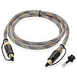 【LCYOUTH】光デジタルケーブル 光ケーブル オーディオケーブル オプティカル トスリンク デジタル音声ケーブル 光同軸 (3M)