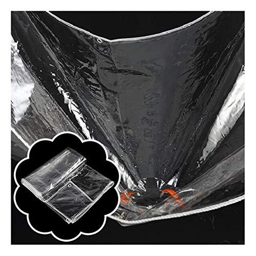 XISENOCI Waterproof Clear Tarpaulin, Universal Transparent Tarp Sheet PVC Ground Sheet Covers Outdoor Fishing Camping 450g /m² (Color : Clear, Size : 0.8X2M)