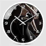 Yangoo Orologio da Parete Fitness Palestra Sala Yoga Meditazione Ragazza Silenzioso Moderno Orologio Orologio Home Decor Orologio Sportivo,D