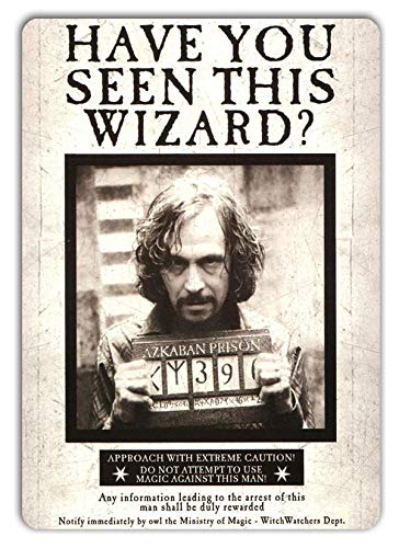 St574ony Metal Sign Metal Sign 8x12 Inches Funny Sign Poster Plaque Wall Decor Inches Funny Sign Poster Plaque Sirius Black Wanted Poster Metal Wall Sign Plaque Art Azkaban Prison Wand Potter