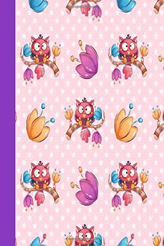 KOOKY BIRD NOTEBOOK: Colorful notebook to write in, lined pages with bird design, double sided cover, contrasting printed spine, ideal for women & girls who love cute animal designs