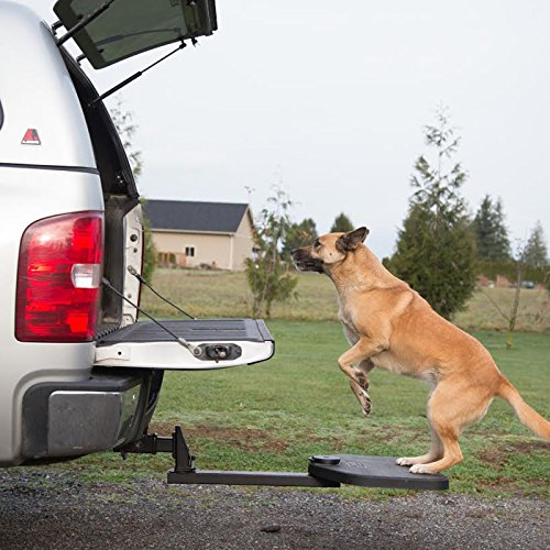 Heininger Automotive PortablePet TwiStep Pet Step for Pickup Trucks Pet Travel