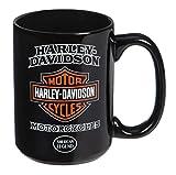 Harley-Davidson American Legend - Tazza da caffè in ceramica, 425 ml, colore: Nero 3AMB4900
