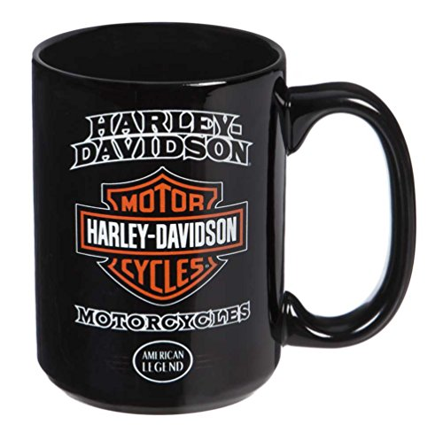 Harley-Davidson American Legend Ceramic Coffee Cup, 15 oz. - Black 3AMB4900