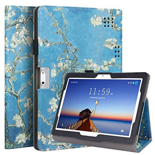 KuRoKo Folio Case Cover Compatiable with Yuntab K107,Dragon Touch K10 10.1, Victbing 10, WECOOL 10 Inch Tablet, ZONKO 10.1, Mirzebo 10 Inch, Kivors 10.1, LLLCCORP 10