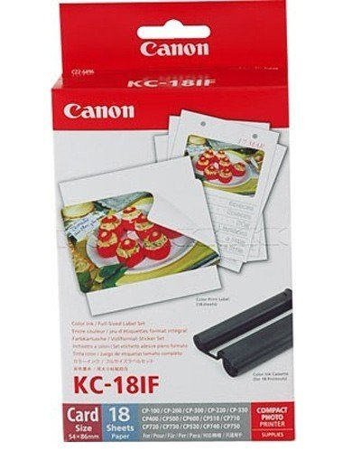 1x Original Canon Multipack KC-18IF KC18IF für Canon Selphy CP 810-54x86mm, 18 Blatt, 1x Kartusche Farbig -