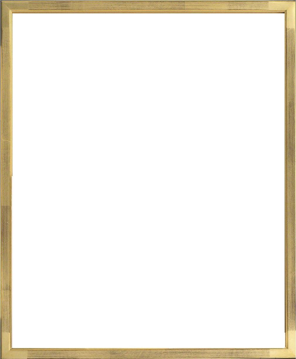 セットする飽和する義務的大額 額縁 デッサン額 7513 八ツ切 ゴールド アクリル