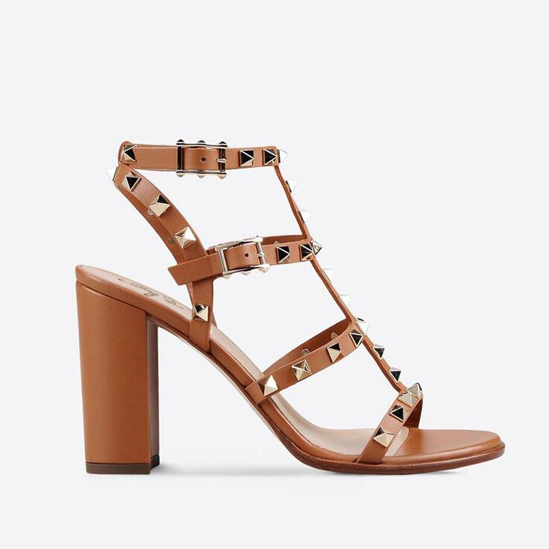 Jiang 2018 2018 2018 kvinnor skor sommar ny med Rivet Sandals High klackar Damer Stiletto High klackar Sandaler  10 dagar tillbaka