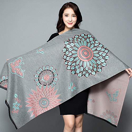 Generieke sjaal, sjaal voor vrouwen, verdikking, warme, pashmina, sjaal, kasjmier, lichtgrijze achtergrond, oversized sjaal, multifunctioneel, trendy persoonlijkheid, lang deel