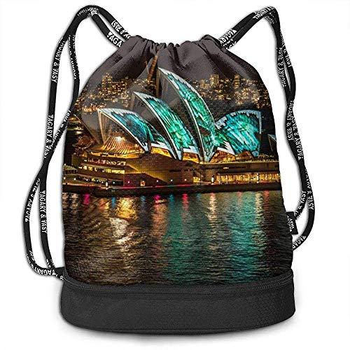 G.H.Y Sacs à Dos à Cordon Sacs Sydney Opera House Sports Gym Sackpack Tote Travel Rucksack