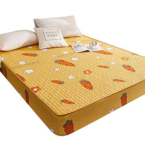 ZQDL Protector de colchón impermeable acolchado a prueba de polvo para cama cálida