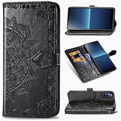 Luckyandery - Funda con tapa para Sony Xperia L4, color negro