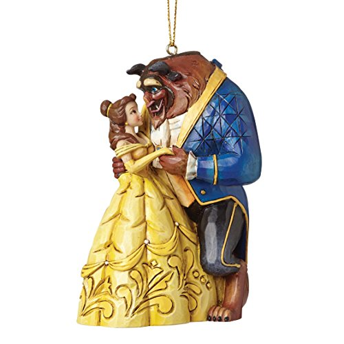 Disney Traditions A28960 Bella e la Bestia, Resina, Multicolore, 8x8x10 cm