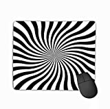 Mouse Pad Hypnotic Swirl Spiral Background hypnos Circles Concentric Rectangle Rubber Mousepad 11.81 X 9.84 Inch