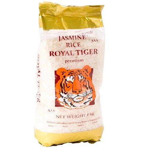 [ 12x 1kg ] ROYAL TIGER Jasmin Duftreis Jasmin Reis, ganz, Jasmine Rice AAA + ein kleines Glückspüppchen - Holzpüppchen