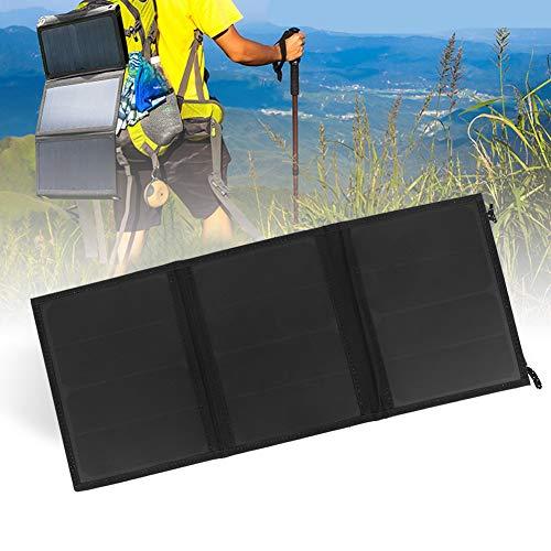 Pbzydu Solarpanel-Ladegerät, 15W 5V Faltbares Solarpanel Tragbares monokristallines Silizium-Solarladegerät für Outdoor-Aktivitäten Camping Travel Tragbares faltbares Solarladegerät