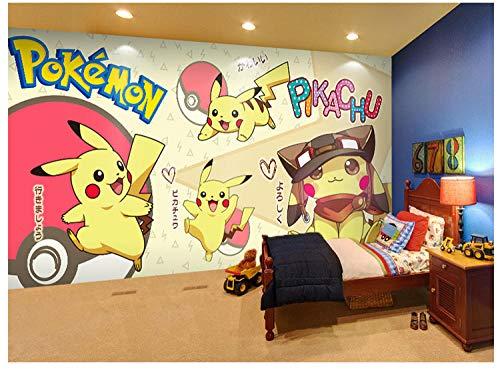 3D Pokémon Pikachu Chambre D'Enfants Papier Peint Anime Dessin Animé Murale Chambre Papier Peint 250(L) x175(H) cm